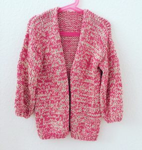 Strickjacke, Mädchen, Bernadette Cardigan, Sommer, We are Knitters