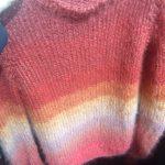LANG YARNS - Mohair Pullover mit Streifen