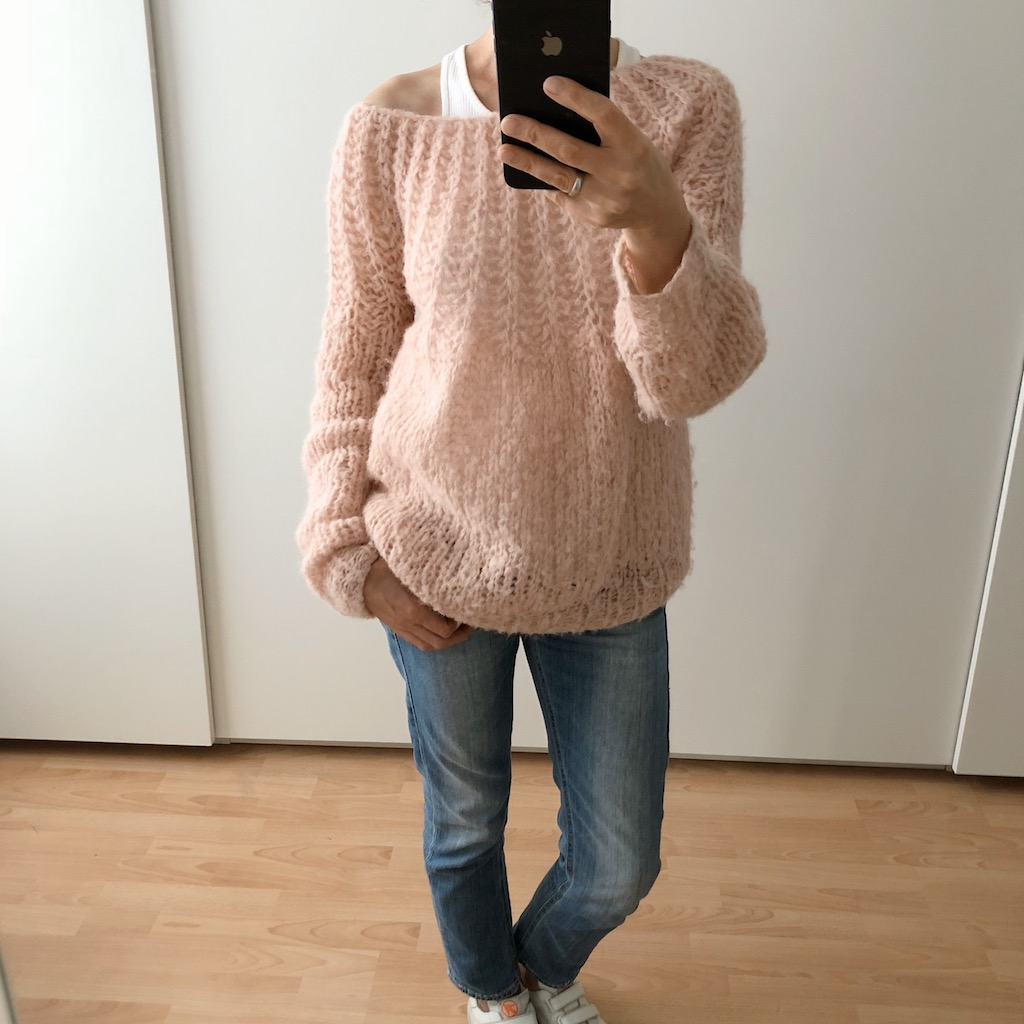 LOTILDA Sweater mit Passe im Patentmuster