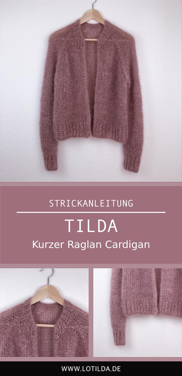 Pinterest - TILDA Kurzer Raglan Cardigan
