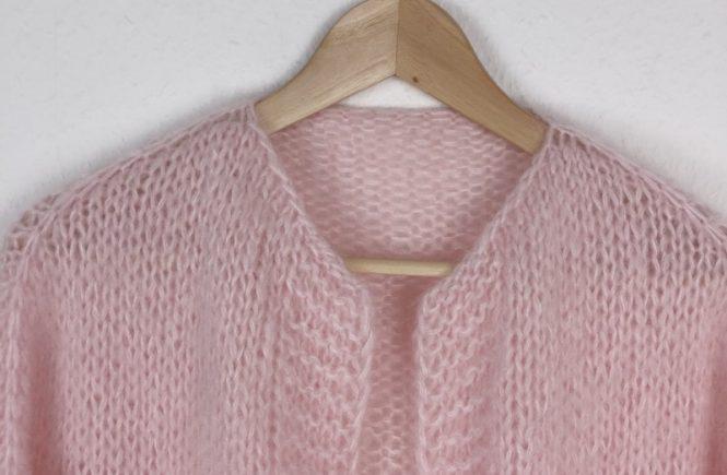 LOTILDA - MARTA - Oversize Cardigan mit Schulterpasse und kraus rechts Blende