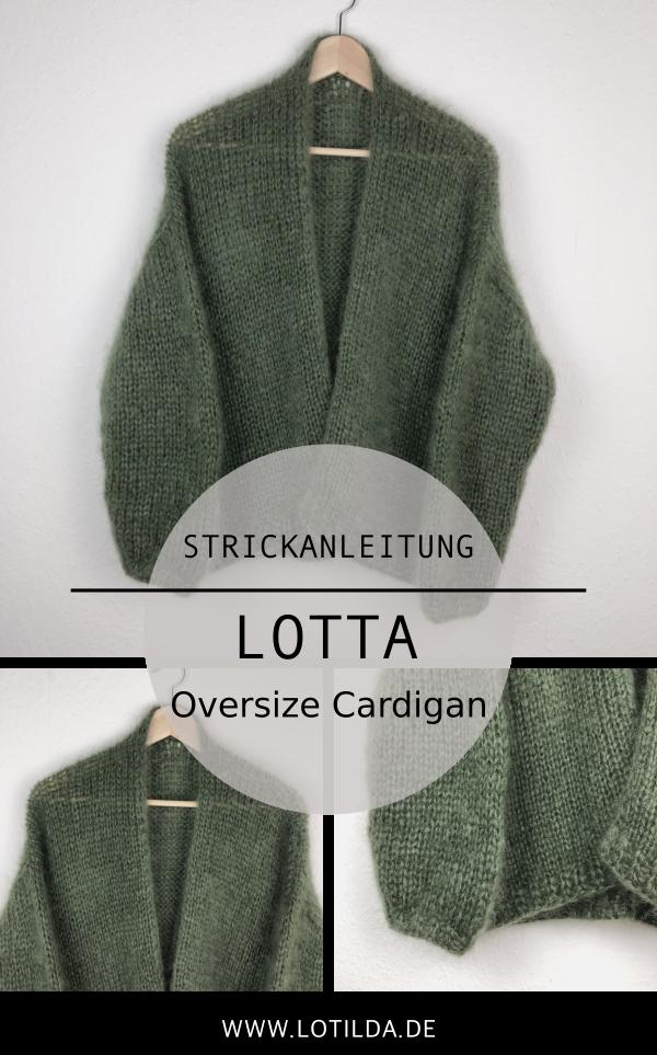 LOTILDA - LOTTA Mohair Oversize Cardigan - Strickjacke mit Halsblende